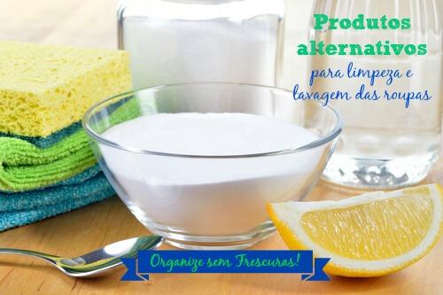 Produtos alternativos de limpeza e lavagem das roupas
